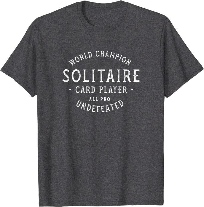 Retro World Champion Solitaire Player T-Shirt