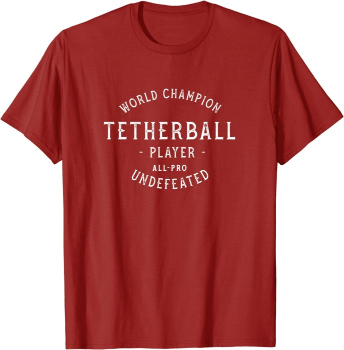 Retro World Champion Tetherball Player Undefeated T-Shirt