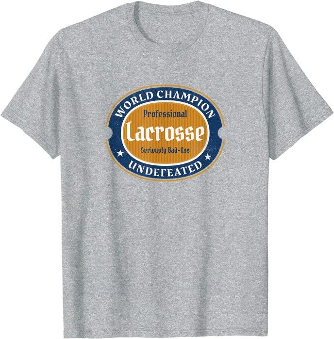 "Retro Lacrosse World Champion ""Seriously Bad-Ass"" T-Shirt"