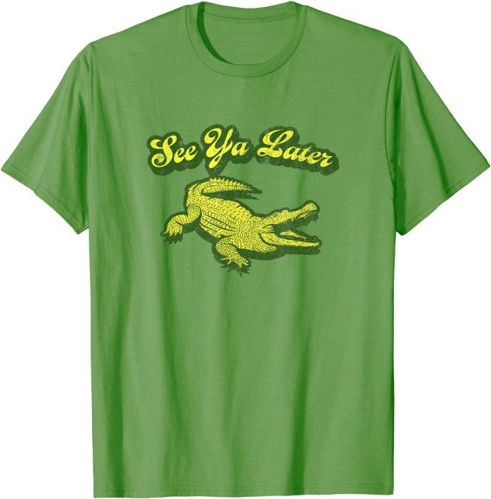 "Retro ""See Ya Later"" Alligator Turbo Volcano T-Shirt"