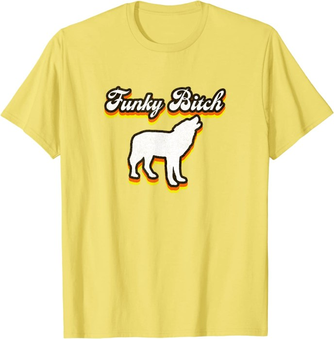 Retro Funky Bitch 1970s Style by Turbo Volcano T-Shirt