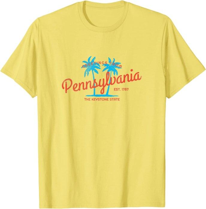 Retro Greetings from Pennsylvania Tropical T-Shirt
