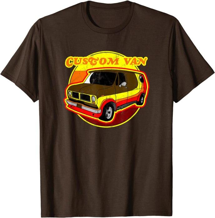 Retro Custom Van T-Shirt Groovy Custom Van Tee