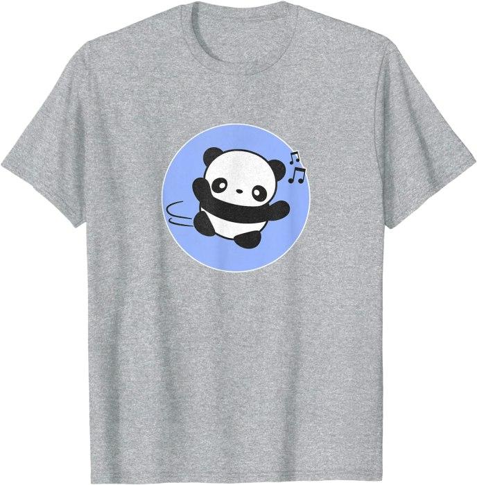 Retro Kawaii Panda Silly Dance by Turbo Volcano T-Shirt