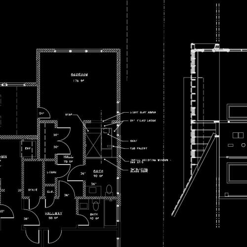 New Bath Plan and Cross Section