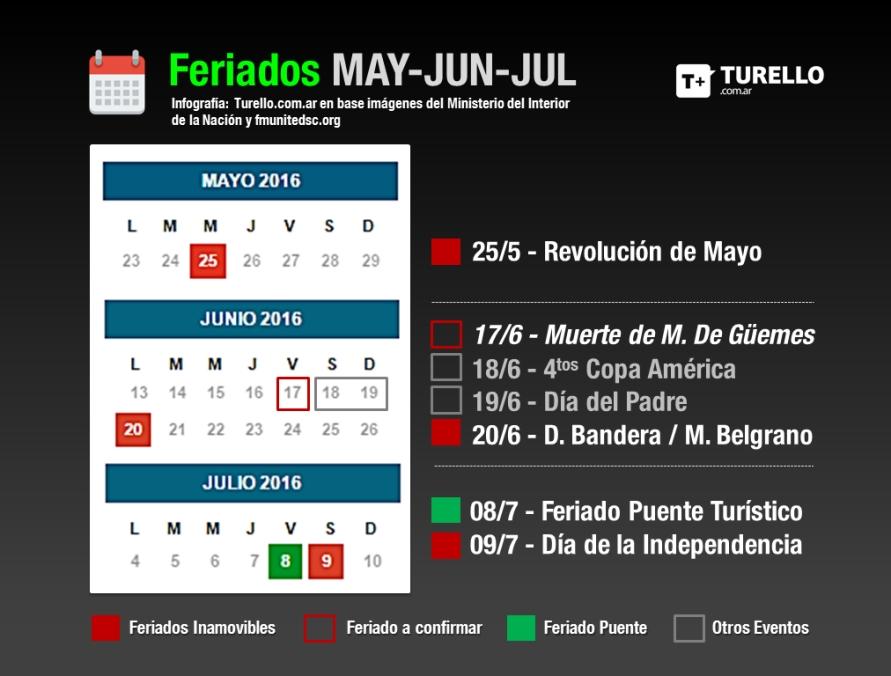 Calendario 2016 Argentina.Calendario 2016 La Nacion Calendar Office Of The Registrar
