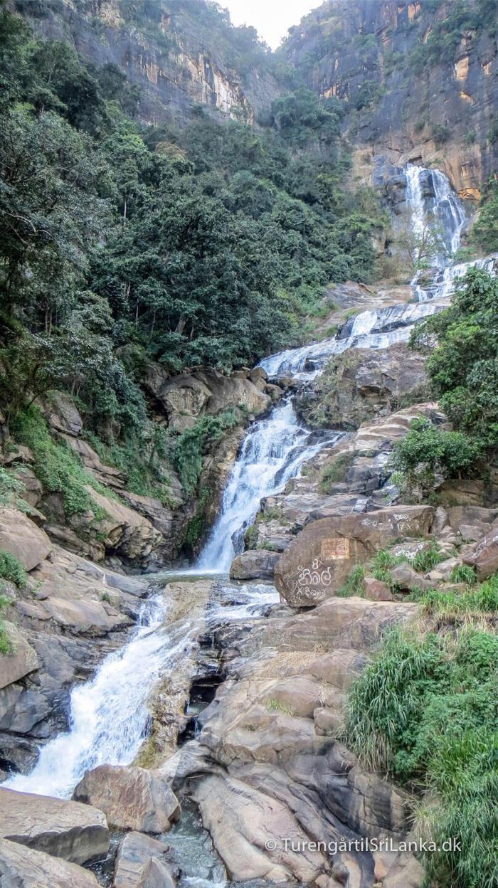 Rawana Falls i Ella er nok Sri Lanka's mest kendte vandfald
