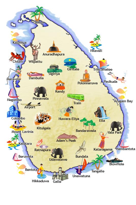 Sri Lanka turistkort
