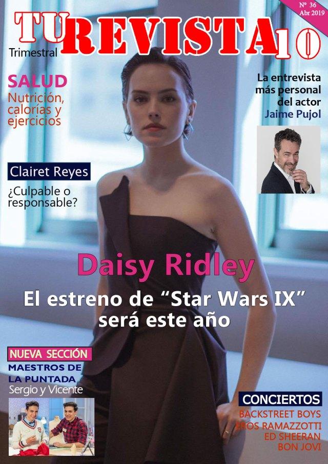 """Daisy Ridley el estreno de """"Star Wars IX"""" será a finales de año."""