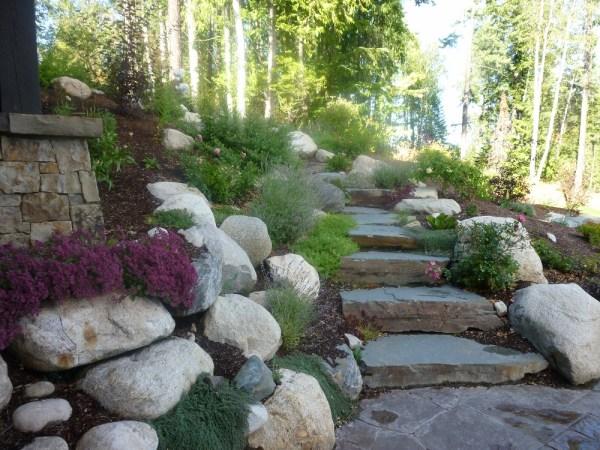natural rock steps - turfcare landscaping