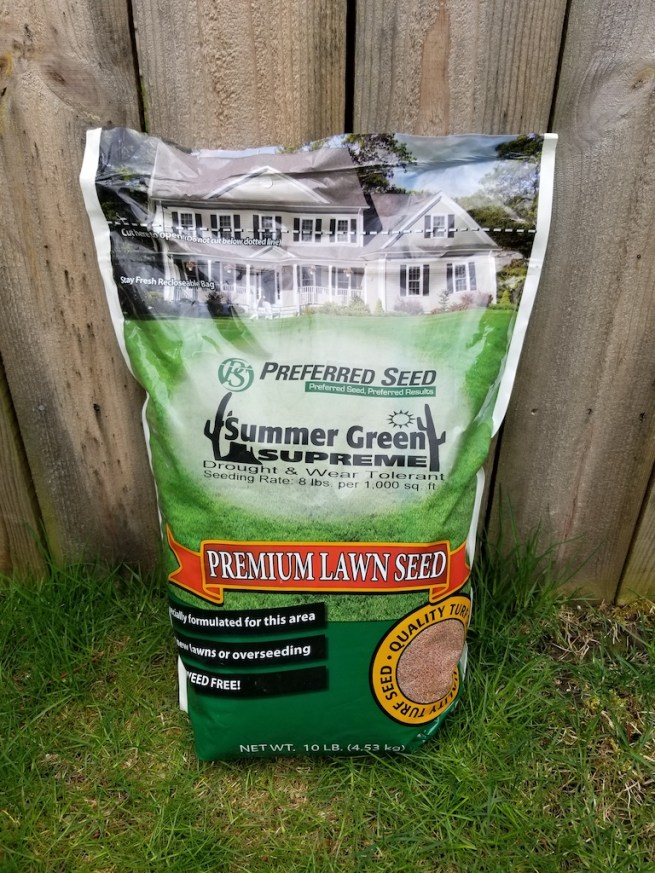 A bag of Summer Green grass seed
