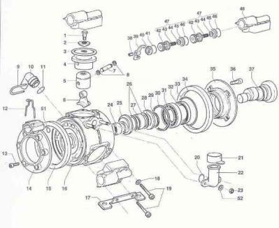 COMET MP40 PUMP REPAIR KIT & PARTS