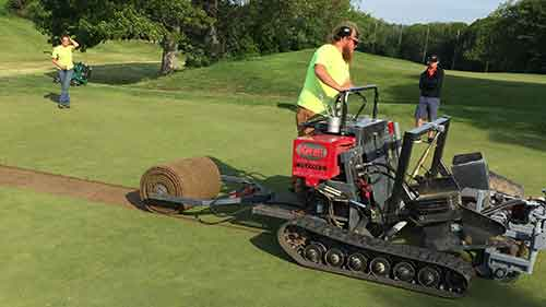 """specialized equipment includes 30"""" sod cutter and rollup jig"""