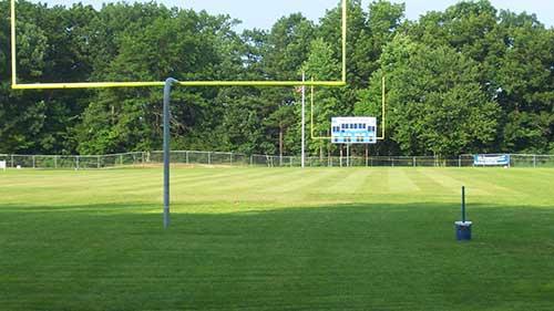 football field natural sod turf installation