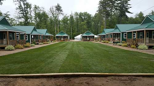 portfolio image of sod installation at a camp in Ossipee NH