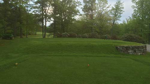 sod installation portfolio image of golf course tee renovation in Concord NH