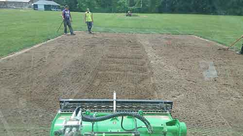 specialized equipment includes reverse tine tiller
