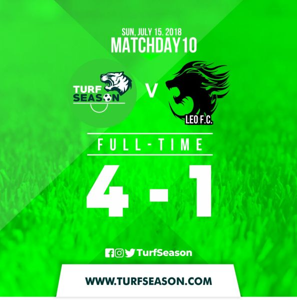 TURF DAY - FINAL SCORE - LEO FC - July 15,2018