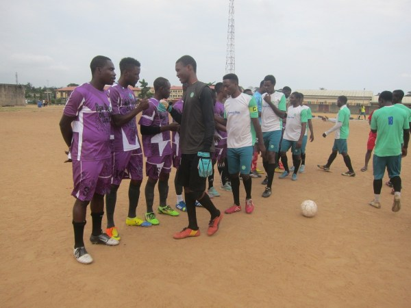 Turfseason players welcoming Owoiya FC to the game – August12th, 2018