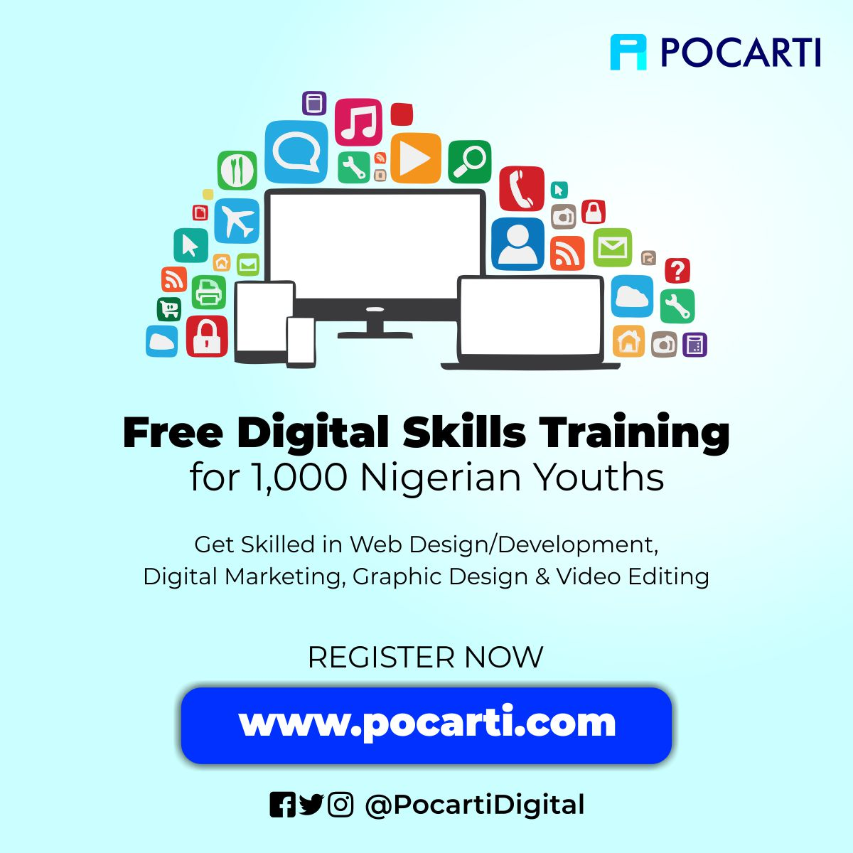 Free Digital Skills Training for 1,000 Nigerian Youths - Pocarti Digital Nigeria