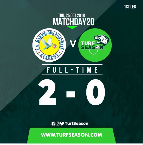 Matchday 20 -final score - 1st leg, marvelous fc - 25-10-2018