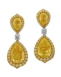 Fancy Intense Yellow Diamond Earrings - Turgeon Raine