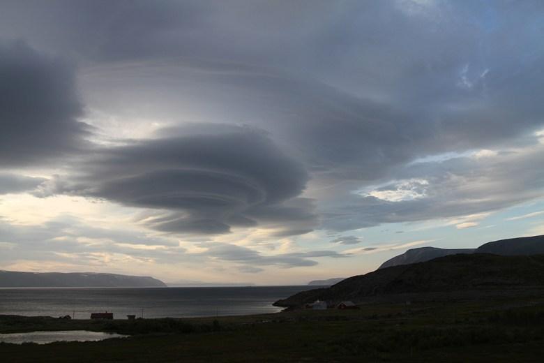Spektakulære skyer over Tanafjorden