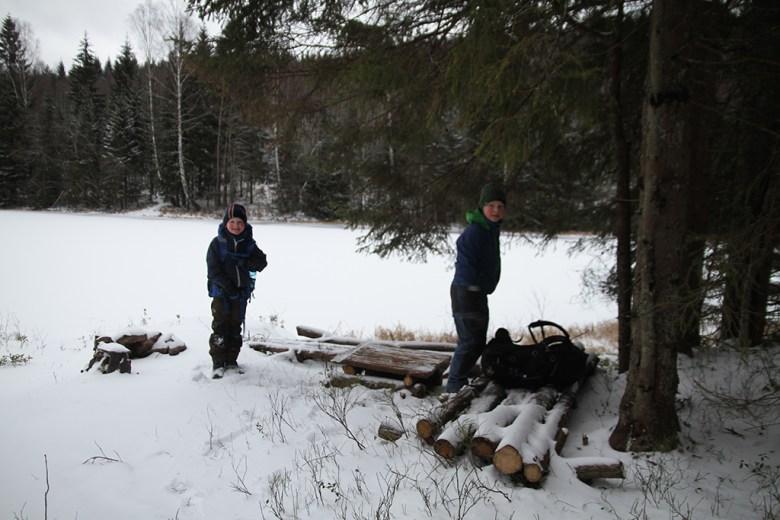 Ingen har vært på leirplassen vår siden sneen falt