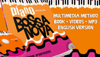 Piano Bossa Nova book with videos and audios