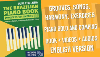 The brazilian piano book multimedia method Turi Collura Brazil