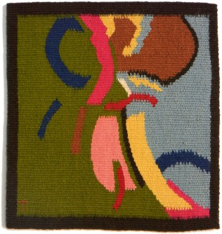 "Collaboration 77.3. Wool. 13""x13"""