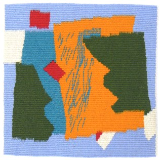 Wool. 10 inches x 10 inches