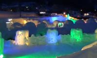 層雲峡氷瀑まつりのアナ雪の世界で氷瀑ウエディング!?