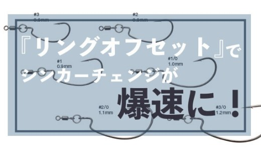 『リングオフセット』で直リグのシンカーチェンジが超簡単に!リグを組み直さずに重さを変えれるぞ!