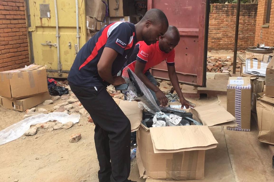 Container arrived in Mzuzu, Malawi
