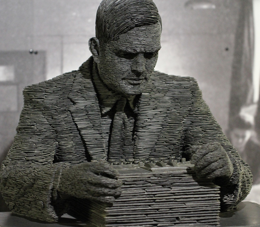 A statue of Alan Turing, Great Uncle of The Turing Trust's Founder, James Turing.