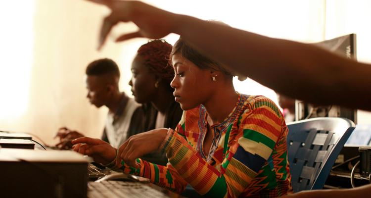 Computer literacy classes in Liberiain Liberia