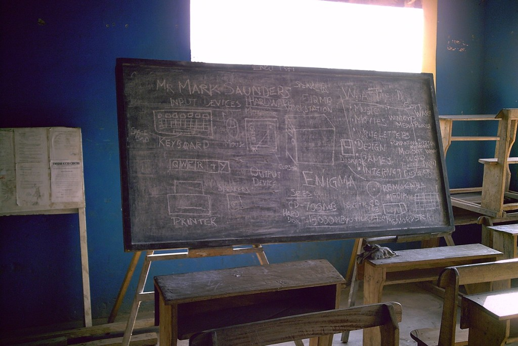 ict BEING TAUGHT ON A BLACKBOARD