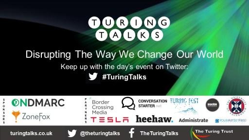 Turing Talks holding slide