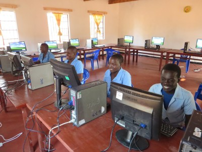 Computer lab at Lura Community Day Secondary School.