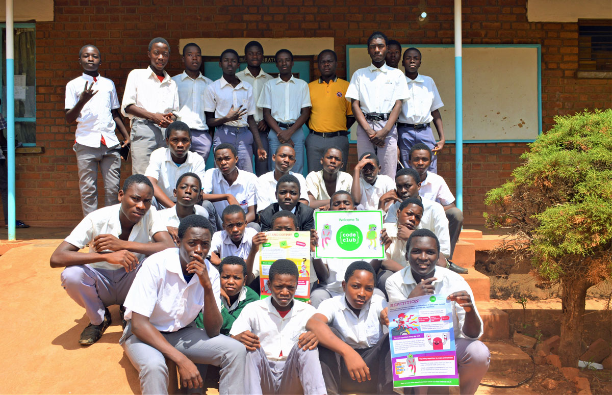 Introducing the Code Club at Robert Laws Secondary School, Malawi