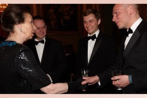 James Turing meets HRH Princess Anne at Buckingham Palace