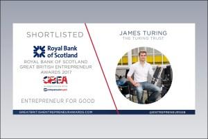 Shortlist announcement for Great British Entrepreneur Awards 2017
