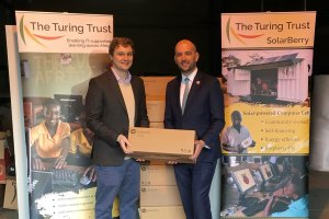 Ben Macpherson, Scottish MP donates to 1,000 Computers to The Turing Trust.