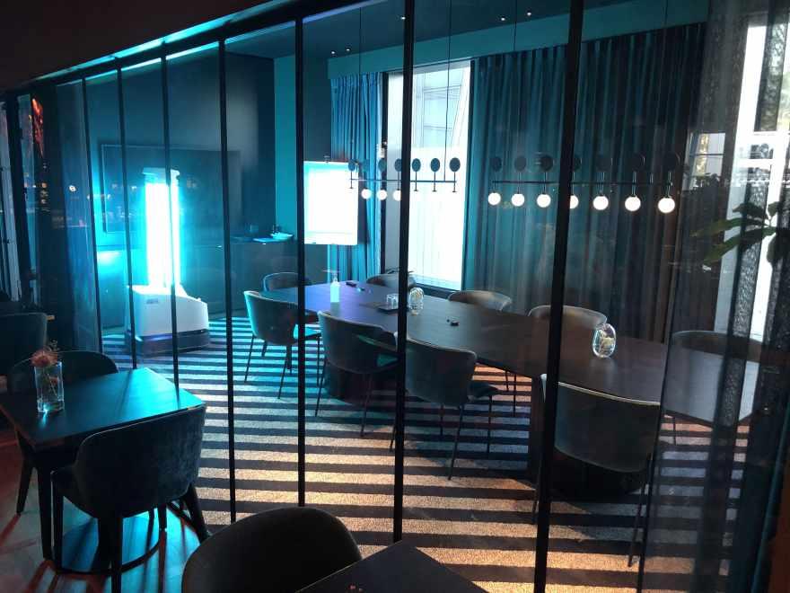 Robotten rengør vha. UVC-lys. (Foto: Clarion Hotel & Congress Copenhagen Airport)