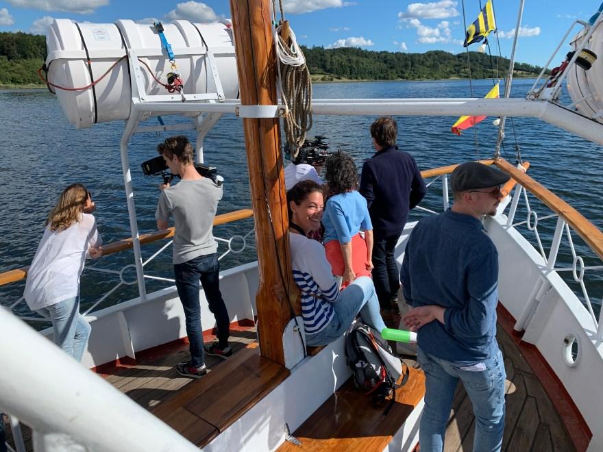 Valget af locations til tv-optagelserne, som her hjuldamperen Svanen, er en større øvelse. Forud for optagelserne var der besøg af hollandske location-scouts. (Foto: Birgitte Bak Aastradsen)
