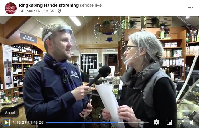 Live-udsendelsen fra 14. januar har over 970 kommentarer. (Skærmdump fra Ringkøbing Handelsforening Facebook-side)