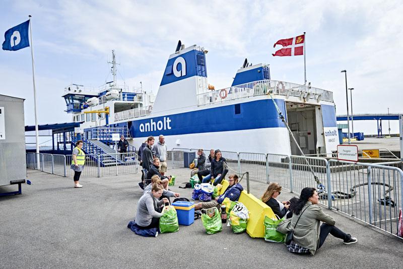 Takket være gratis billetter, satte færgerne passagerrekord i juli 2020. (Arkivfoto: Færgesekretariatet Anholt Færgen)