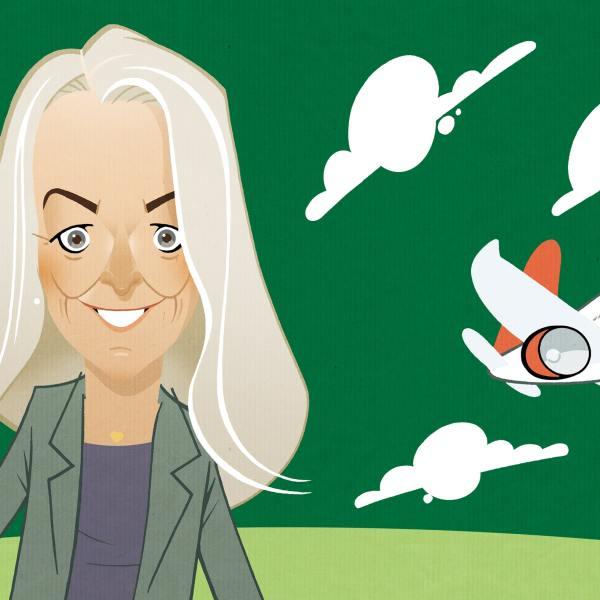 Birgitte Bergman - turismeordfører De Konservative - Illustration Peter Heydenreich