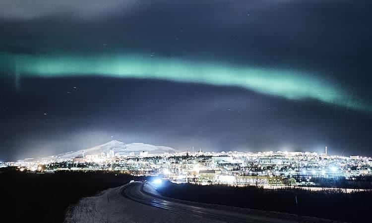 Kiruna e a Aurora Boreal